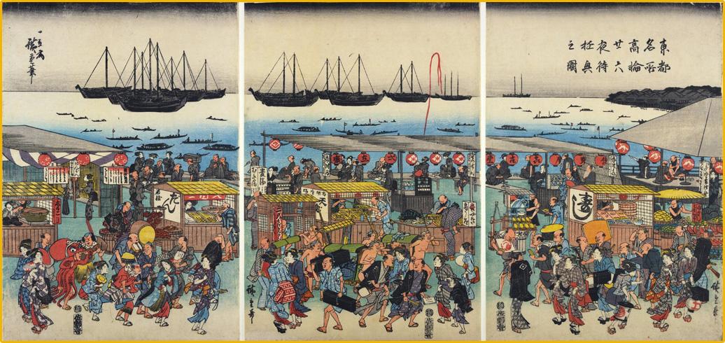 Toto_meisho_Takanawa_nijuroku_ya_machi_yugyo_no_zu_1820